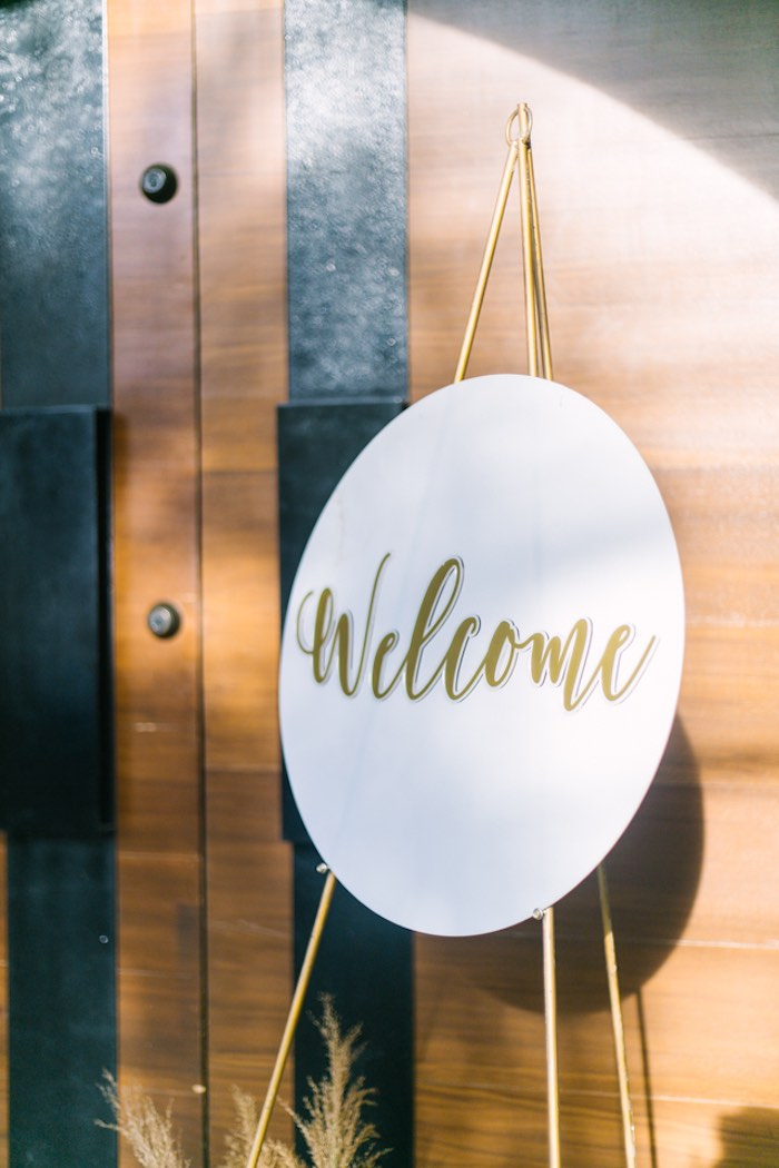 Welcome Sign from an Elegant Floral Baby Shower on Kara's Party Ideas | KarasPartyIdeas.com (16)