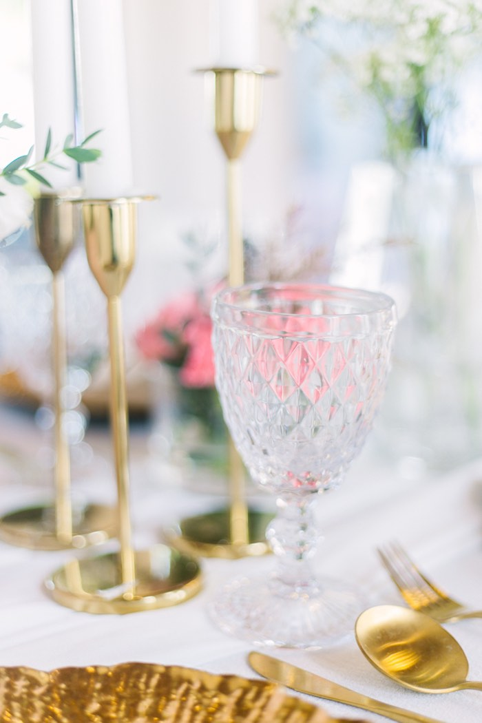 Crystal Goblet from an Elegant Floral Baby Shower on Kara's Party Ideas | KarasPartyIdeas.com (10)