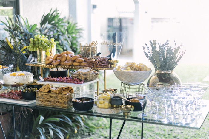 Food Table from an Elegant Floral Baby Shower on Kara's Party Ideas | KarasPartyIdeas.com (5)