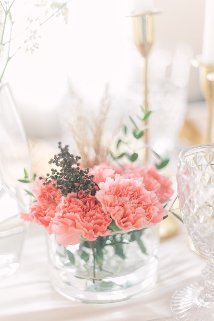 Guest Table Blooms from an Elegant Floral Baby Shower on Kara's Party Ideas | KarasPartyIdeas.com (24)