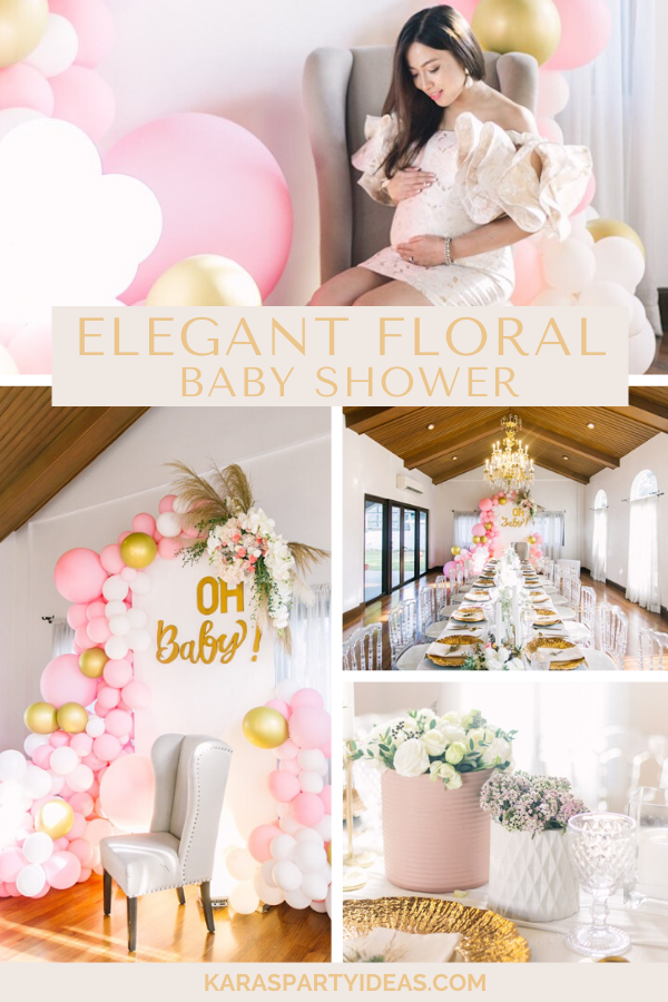 Elegant Floral Baby Shower via Kara's Party Ideas - KarasPartyIdeas.com