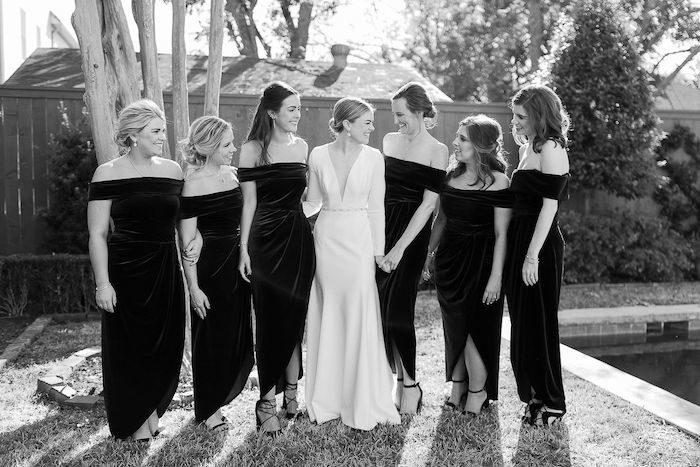 Bridesmaids from an Elegant Floral Urban Wedding on Kara's Party Ideas | KarasPartyIdeas.com (27)