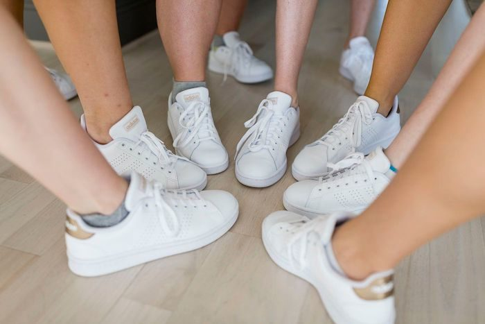 White Bridesmaid Sneakers from an Elegant Floral Urban Wedding on Kara's Party Ideas | KarasPartyIdeas.com (23)