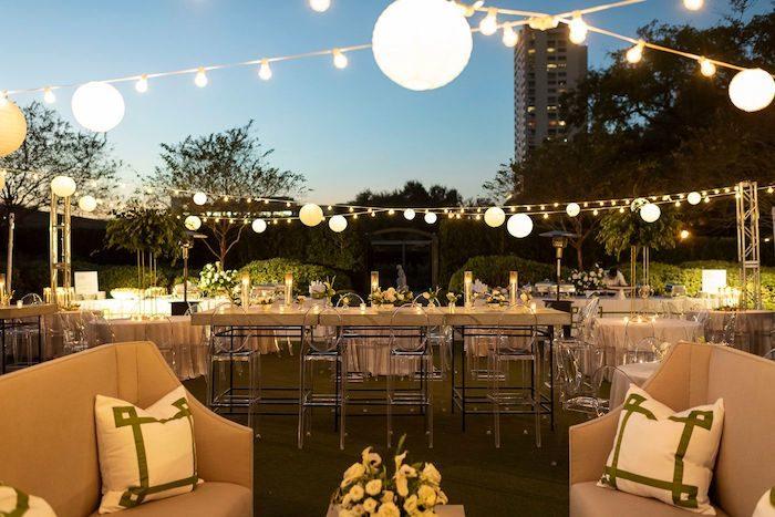 Wedding Reception Venue from an Elegant Floral Urban Wedding on Kara's Party Ideas | KarasPartyIdeas.com (19)