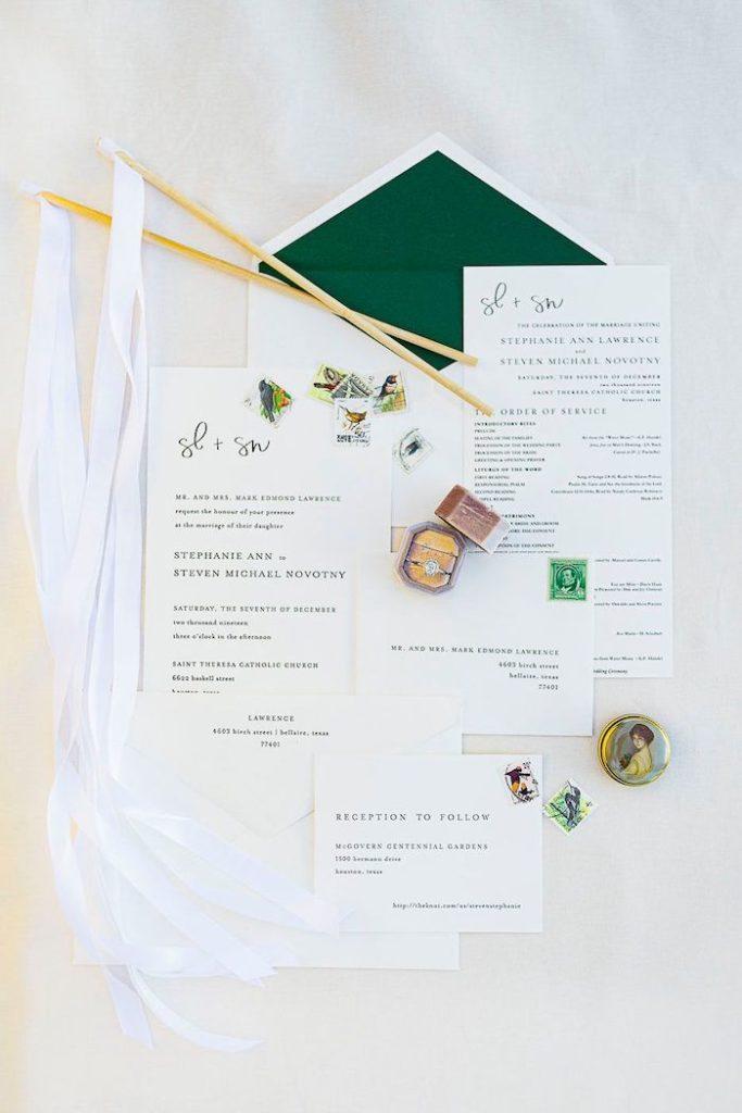 Wedding Stationery from an Elegant Floral Urban Wedding on Kara's Party Ideas | KarasPartyIdeas.com (7)