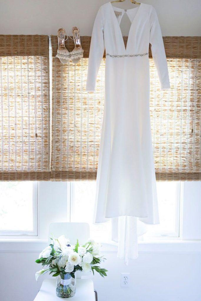 Modern Wedding Dress from an Elegant Floral Urban Wedding on Kara's Party Ideas | KarasPartyIdeas.com (37)