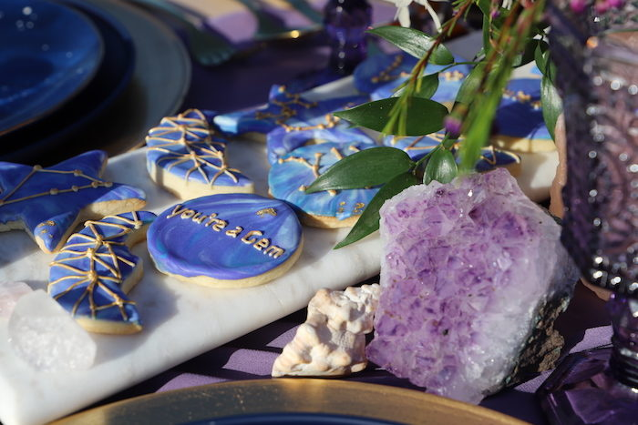 Gem-inspired Cookies from a Geode 18th Birthday Seaside Party on Kara's Party Ideas | KarasPartyIdeas.com (20)