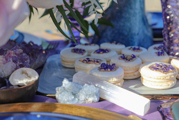 Geode Macarons from a Geode 18th Birthday Seaside Party on Kara's Party Ideas | KarasPartyIdeas.com (17)