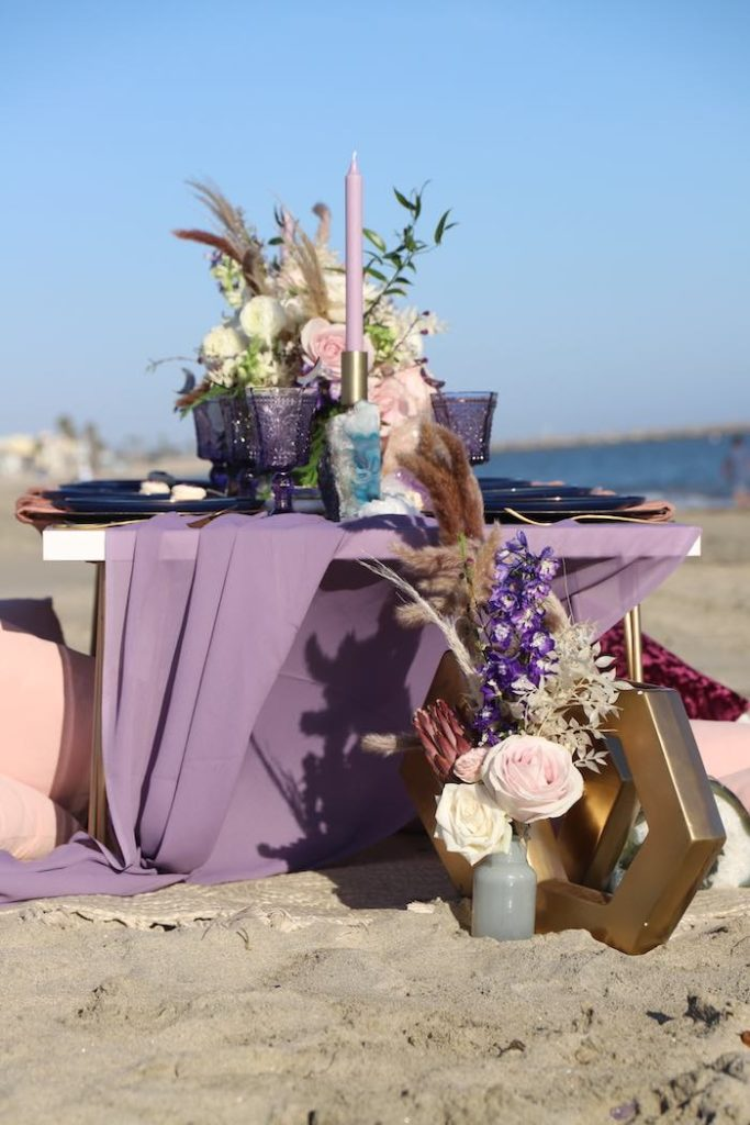 Seaside Guest Table from a Geode 18th Birthday Seaside Party on Kara's Party Ideas | KarasPartyIdeas.com (16)