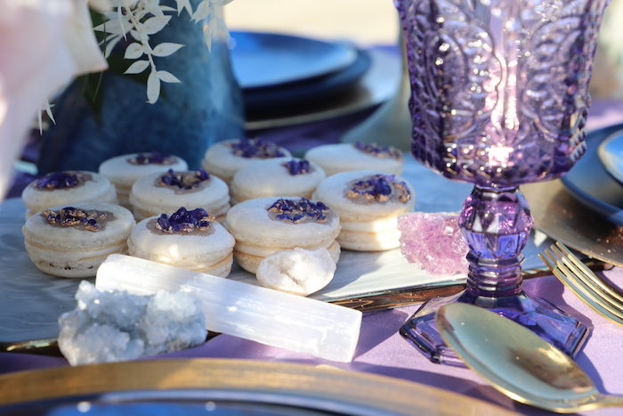 Geode Macarons from a Geode 18th Birthday Seaside Party on Kara's Party Ideas | KarasPartyIdeas.com (13)