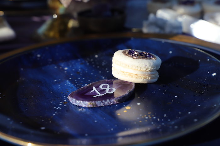 Geode & Macaron from a Geode 18th Birthday Seaside Party on Kara's Party Ideas | KarasPartyIdeas.com (12)
