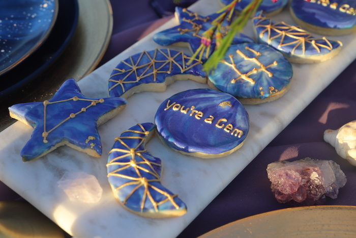 Gem-inspired Cookies from a Geode 18th Birthday Seaside Party on Kara's Party Ideas | KarasPartyIdeas.com (8)