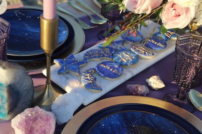 Gem-inspired Cookies from a Geode 18th Birthday Seaside Party on Kara's Party Ideas | KarasPartyIdeas.com (7)