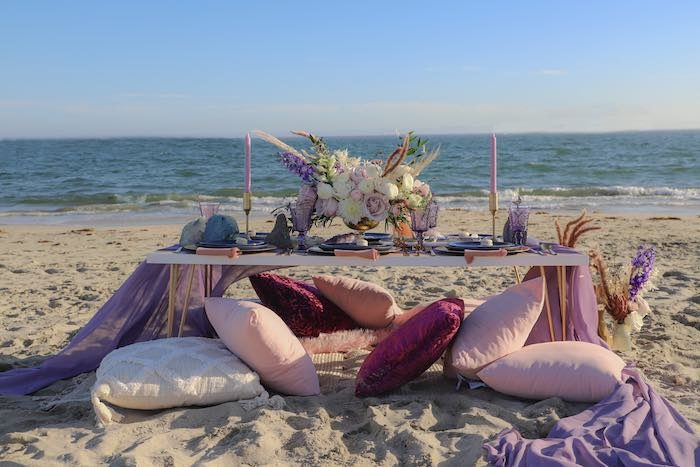 Geode 18th Birthday Seaside Party on Kara's Party Ideas | KarasPartyIdeas.com (6)