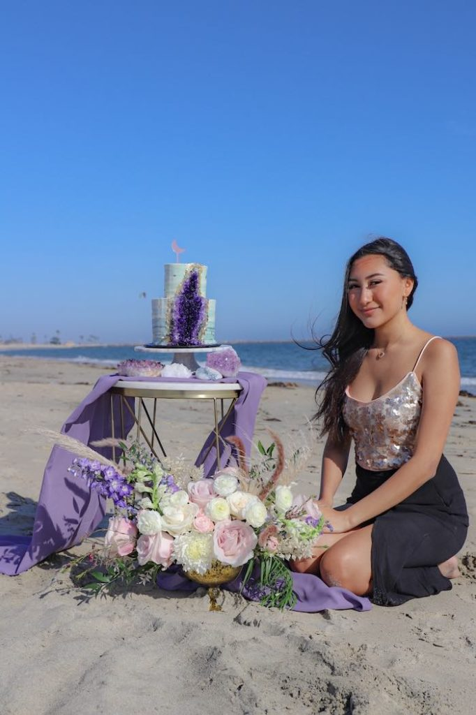 Geode 18th Birthday Seaside Party on Kara's Party Ideas | KarasPartyIdeas.com (29)