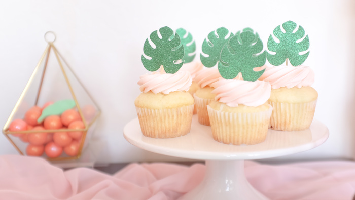 Island Leaf Cupcakes from a Girly Moana Island Birthday Party on Kara's Party Ideas | KarasPartyIdeas.com (15)