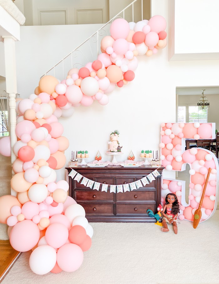 Girly Moana Island Birthday Party on Kara's Party Ideas | KarasPartyIdeas.com (9)