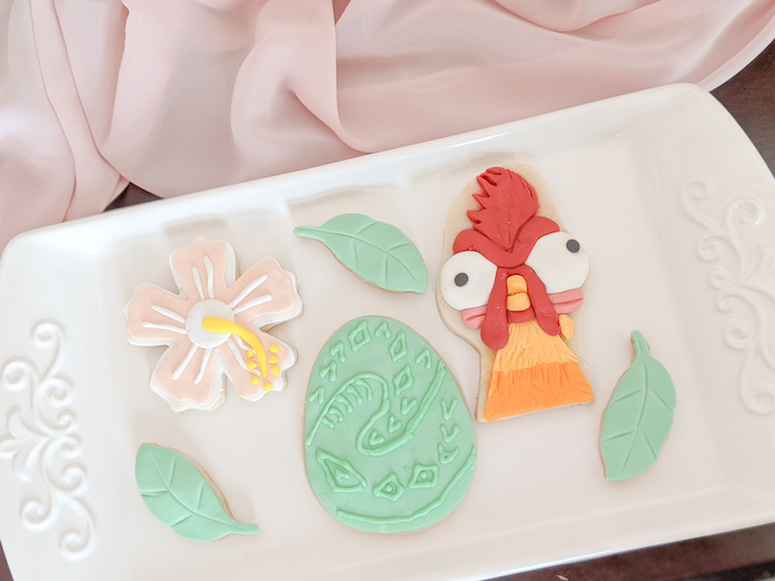 Disney's Moana Themed Cookies from a Girly Moana Island Birthday Party on Kara's Party Ideas | KarasPartyIdeas.com (20)
