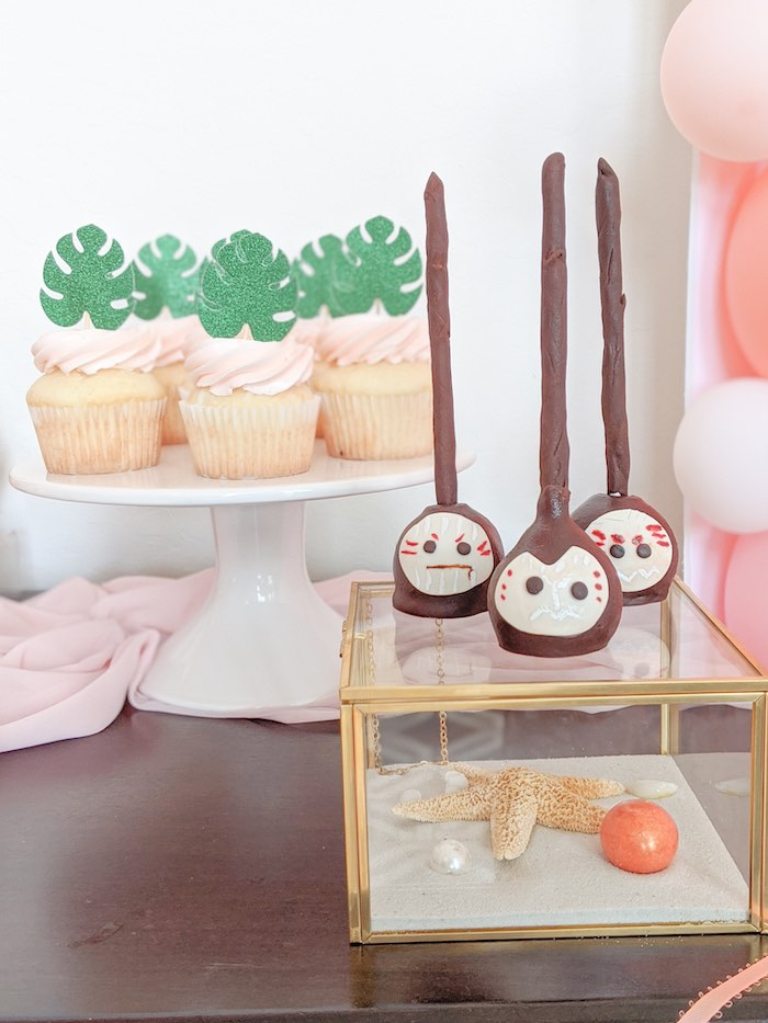 Kakamora Cake Pops from a Girly Moana Island Birthday Party on Kara's Party Ideas | KarasPartyIdeas.com (18)
