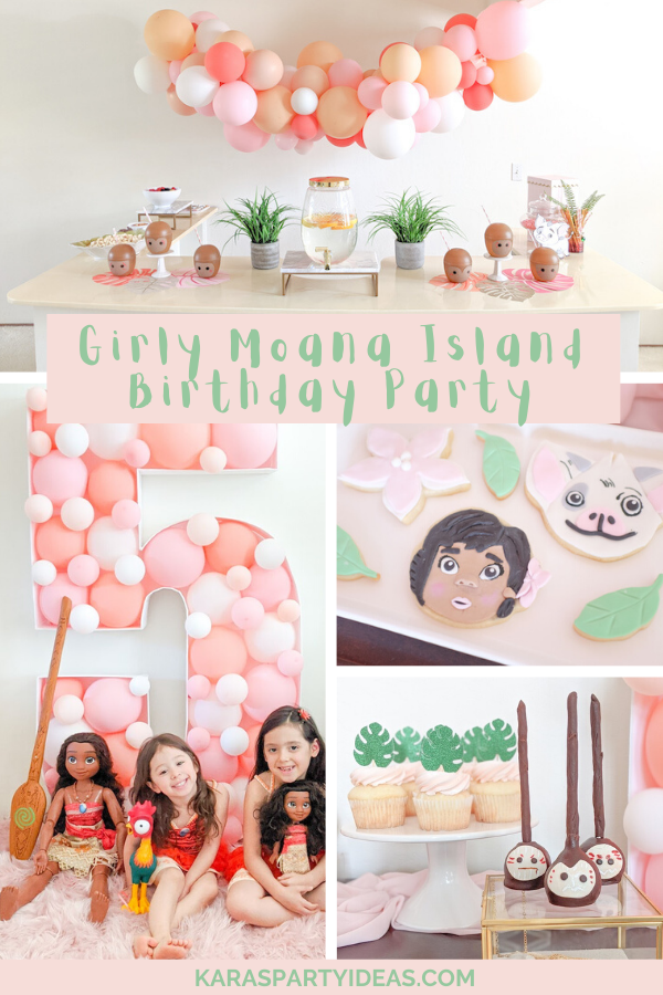 Girly Moana Island Birthday Party via Kara's Party Ideas - KarasPartyIdeas.com