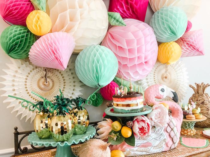 Glam Tropical Flamingo Party on Kara's Party Ideas | KarasPartyIdeas.com (7)