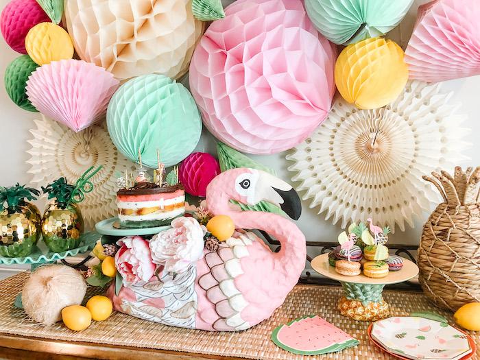Glam Tropical Flamingo Party on Kara's Party Ideas | KarasPartyIdeas.com (6)
