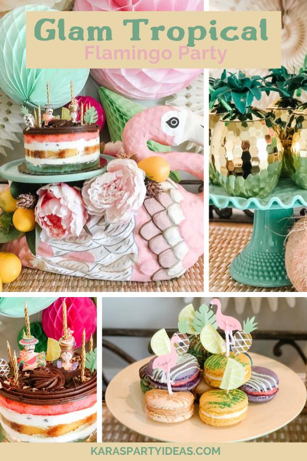 Glam Tropical Flamingo Party via Kara's Party Ideas - KarasPartyIdeas.com