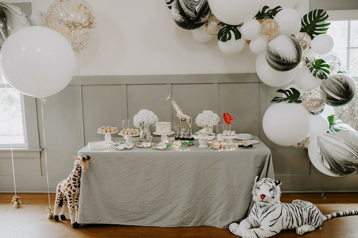Jungle Themed Dessert Table from a Jungle Safari Baby Shower on Kara's Party Ideas | KarasPartyIdeas.com (17)