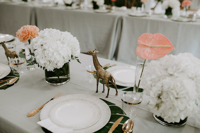 Jungle Themed Guest Table from a Jungle Safari Baby Shower on Kara's Party Ideas | KarasPartyIdeas.com (14)