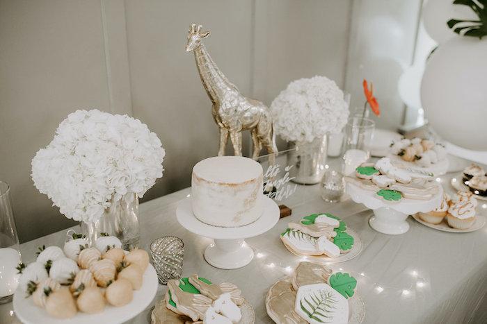 Jungle Themed Sweet Table from a Jungle Safari Baby Shower on Kara's Party Ideas   KarasPartyIdeas.com (13)