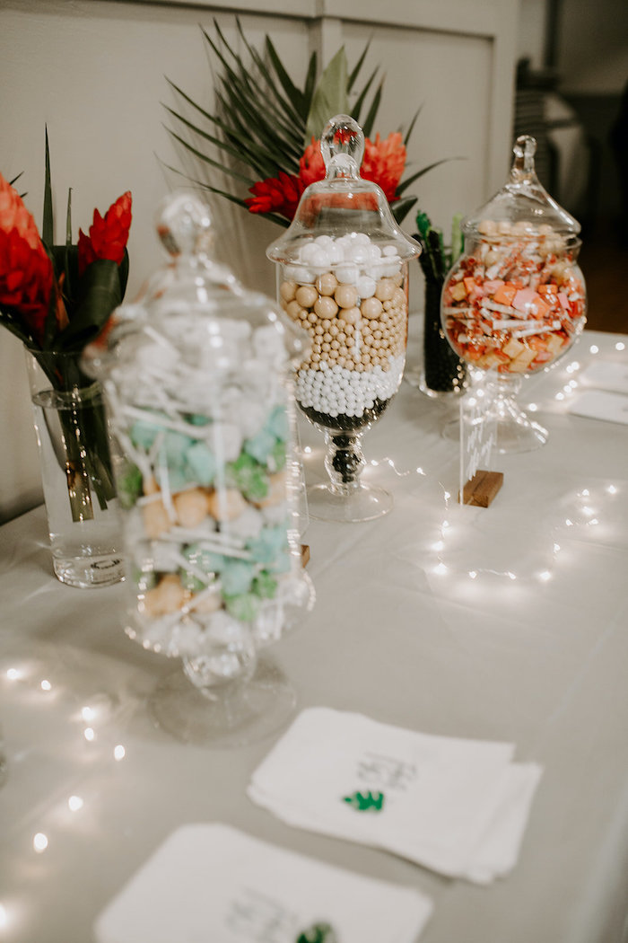 Candy Buffet from a Jungle Safari Baby Shower on Kara's Party Ideas | KarasPartyIdeas.com (11)