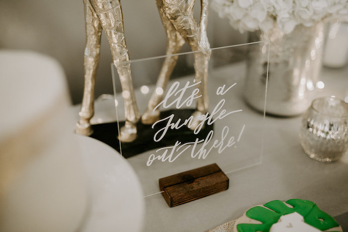 Acrylic Signage from a Jungle Safari Baby Shower on Kara's Party Ideas | KarasPartyIdeas.com (21)