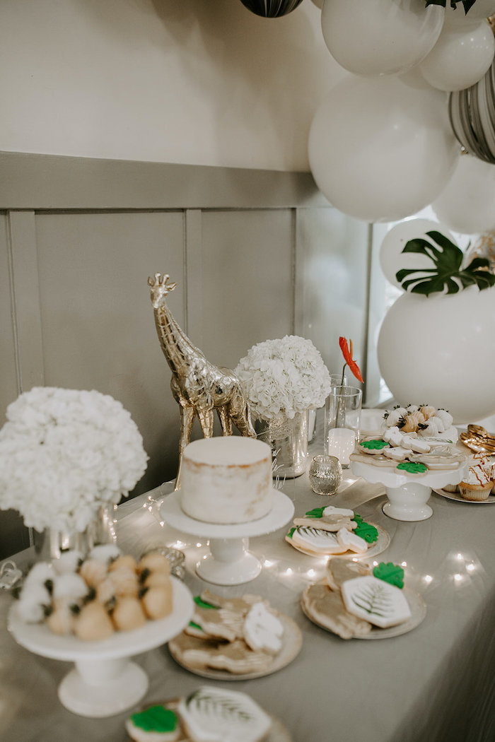 Jungle Themed Dessert Table from aJungle Safari Baby Shower on Kara's Party Ideas | KarasPartyIdeas.com (20)
