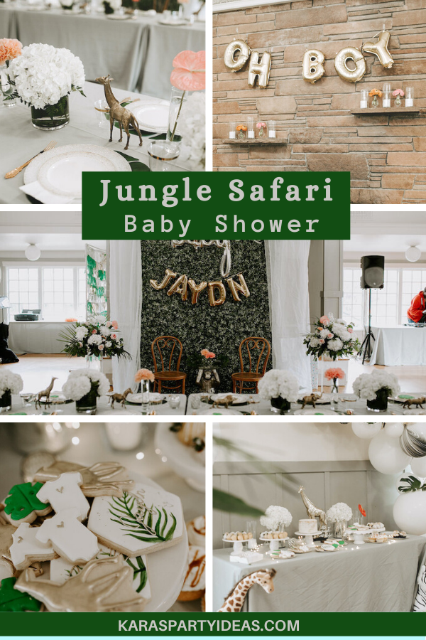 Jungle Safari Baby Shower via Kara's Party Ideas - KarasPartyIdeas.com