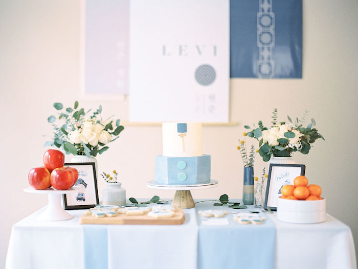 Dessert Table from a Modern Traditional Korean First Birthday Party on Kara's Party Ideas | KarasPartyIdeas.com (11)