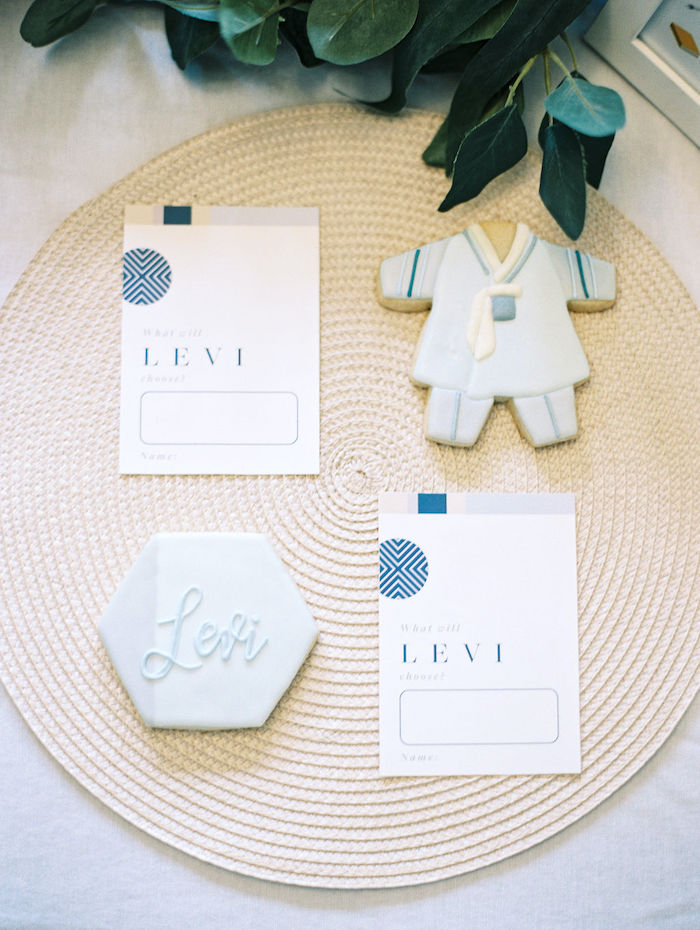 Cookies from a Modern Traditional Korean First Birthday Party on Kara's Party Ideas | KarasPartyIdeas.com (10)