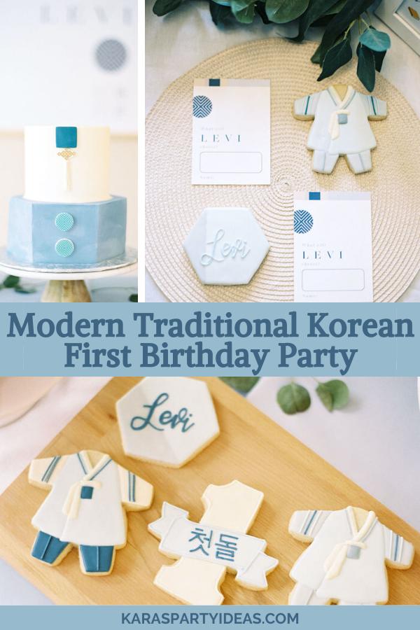 Modern Traditional Korean First Birthday Party via Kara's Party Ideas - KarasPartyIdeas.com