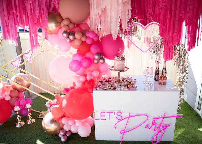 Neon Pink Bride-To-Be Bridal Shower on Kara's Party Ideas | KarasPartyIdeas.com (7)