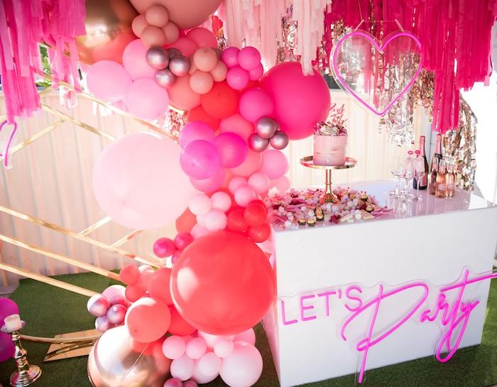 Neon Pink Bride-To-Be Bridal Shower on Kara's Party Ideas | KarasPartyIdeas.com (5)