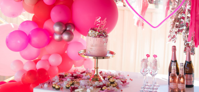 Neon Pink Bride-To-Be Bridal Shower on Kara's Party Ideas | KarasPartyIdeas.com (1)