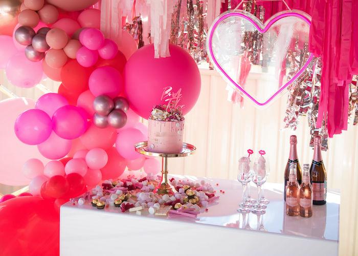 Neon Pink Bride-To-Be Bridal Shower on Kara's Party Ideas | KarasPartyIdeas.com (13)