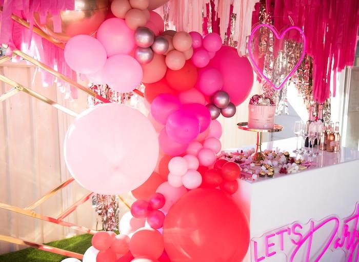Neon Pink Bride-To-Be Bridal Shower on Kara's Party Ideas | KarasPartyIdeas.com (12)