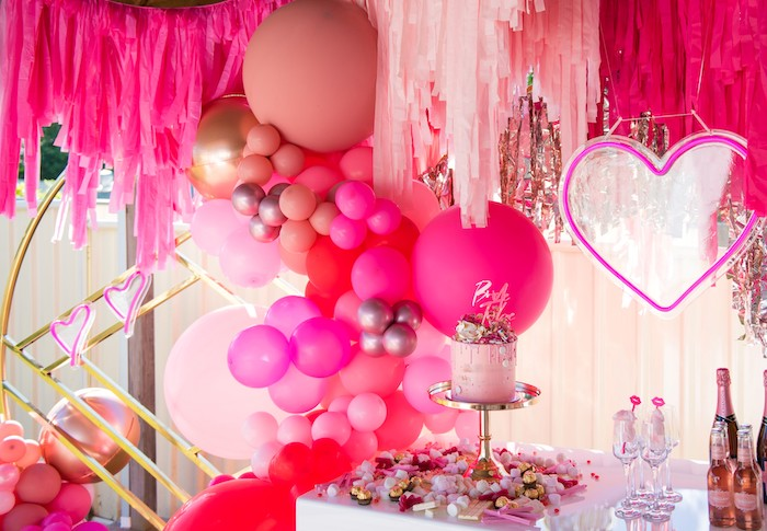 Neon Pink Bride-To-Be Bridal Shower on Kara's Party Ideas | KarasPartyIdeas.com (11)