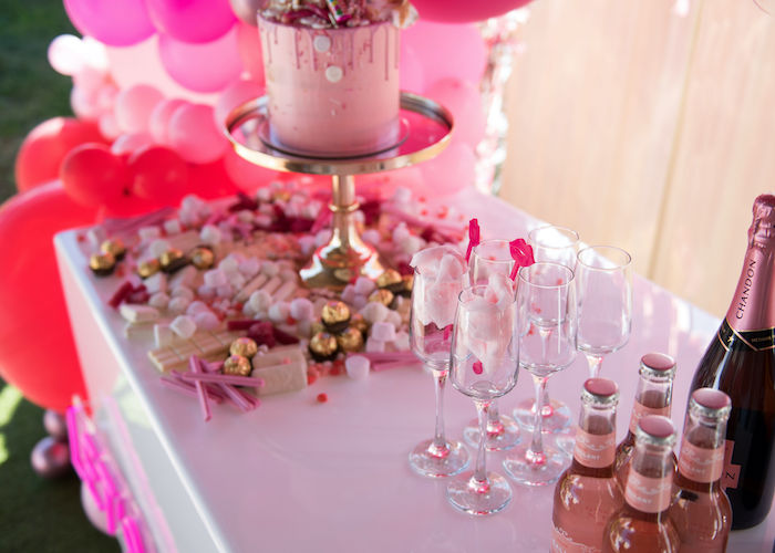 Neon Pink Bride-To-Be Bridal Shower on Kara's Party Ideas | KarasPartyIdeas.com (10)