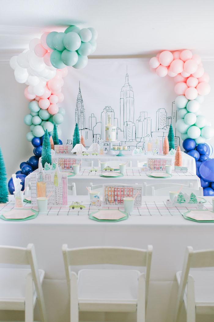 Pastel New York City Birthday Party on Kara's Party Ideas | KarasPartyIdeas.com (7)
