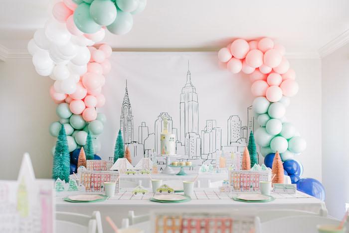 Pastel New York City Birthday Party on Kara's Party Ideas | KarasPartyIdeas.com (6)