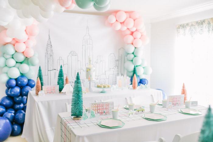 Pastel New York City Birthday Party on Kara's Party Ideas | KarasPartyIdeas.com (5)