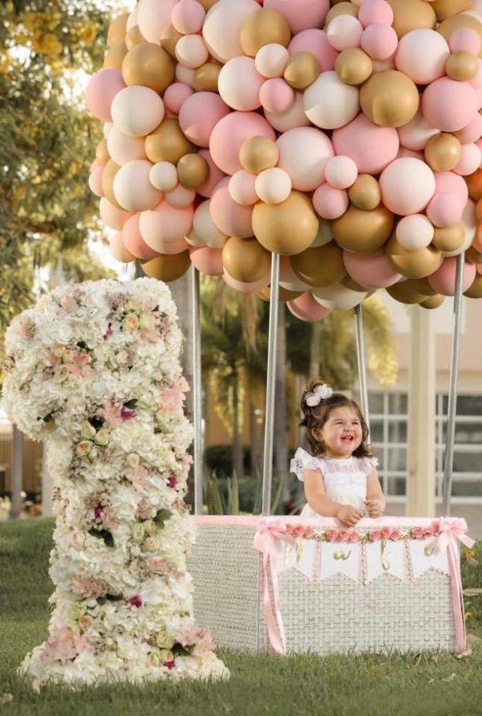 Pink Hot Air Balloon Birthday Party on Kara's Party Ideas | KarasPartyIdeas.com