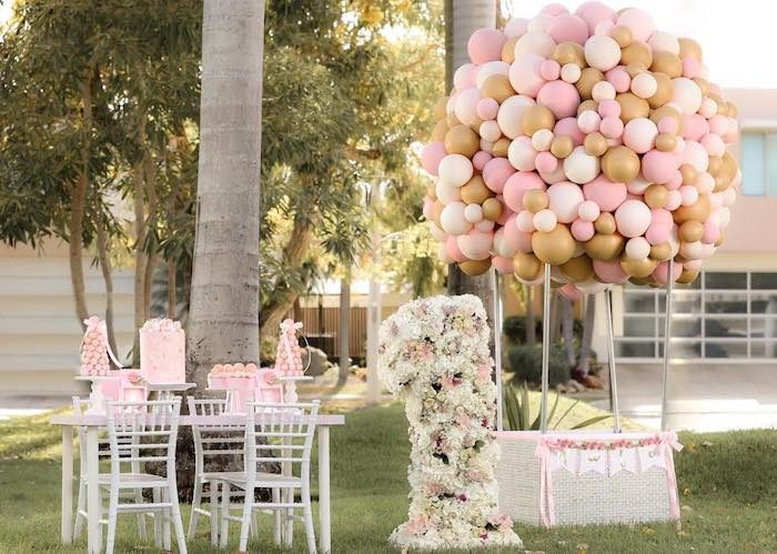 Pink Hot Air Balloon Birthday Party on Kara's Party Ideas   KarasPartyIdeas.com