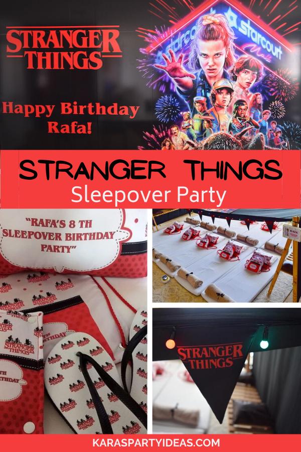 Stranger Things Sleepover Party via Kara's Party Ideas - KarasPartyIdeas.com
